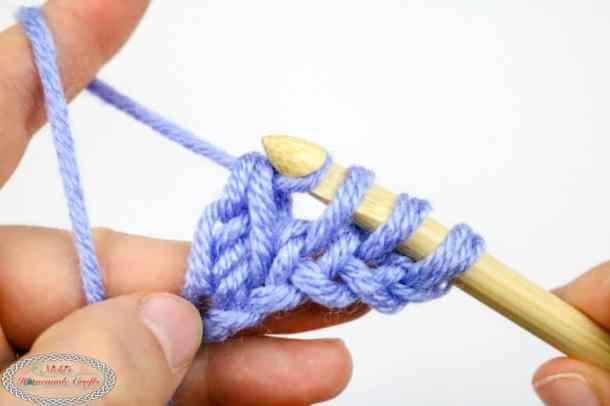 finishing Tunisian Simple Crochet Stitch