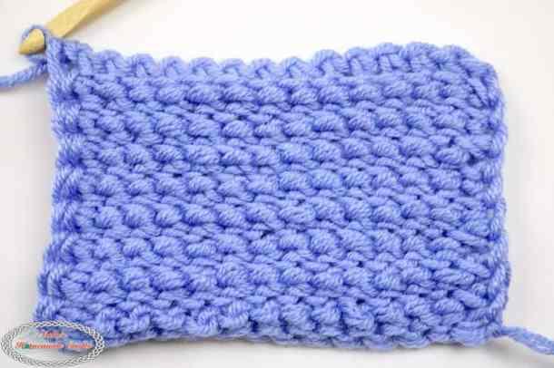 back of Tunisian Simple Crochet Stitch