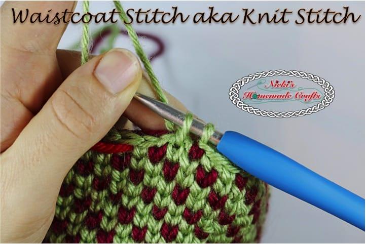 Tutorial How To Do The Waistcoat Stitch Aka The Knit Stitch