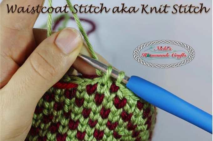Tutorial: How to do the Waistcoat Stitch AKA the Knit Stitch – Crochet Stitch Tutorial
