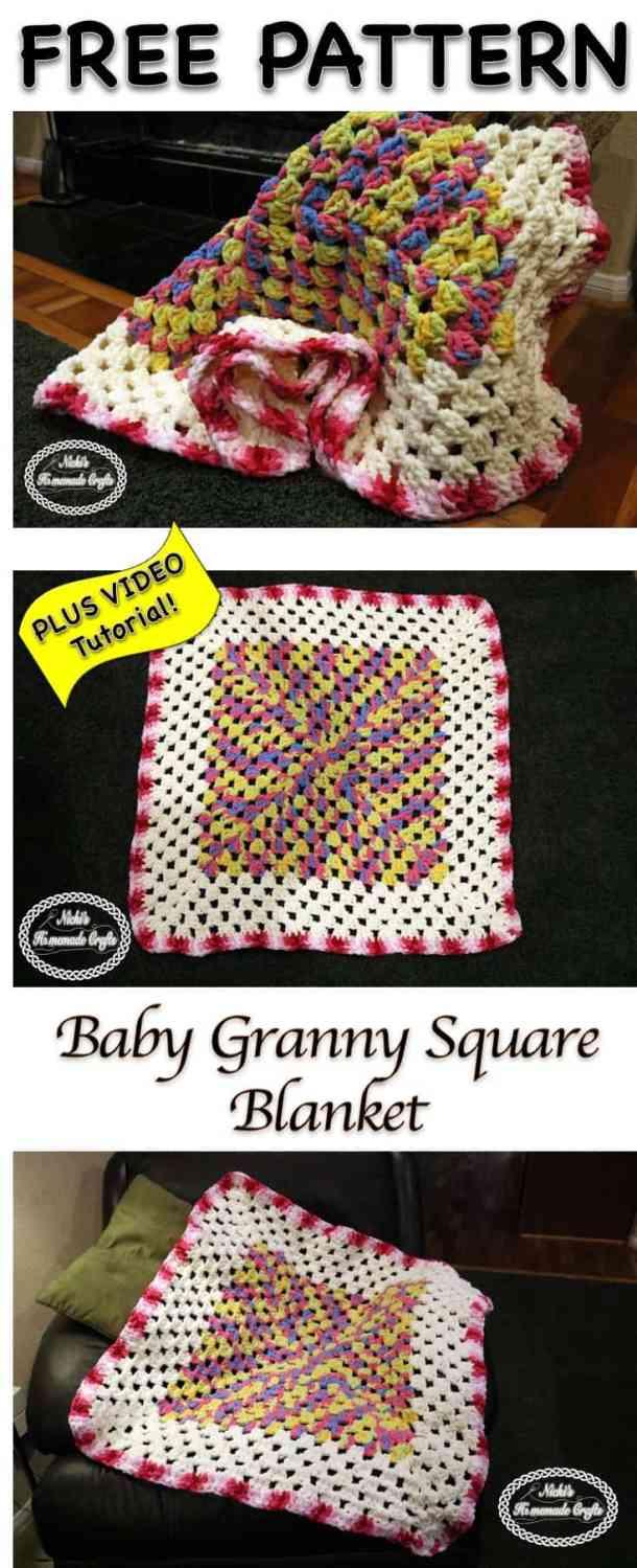 Baby Granny Square Blanket - Free Crochet Pattern - Nicki -2162