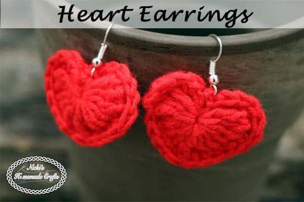 Small Heart Earrings Pattern Free Crochet Pattern