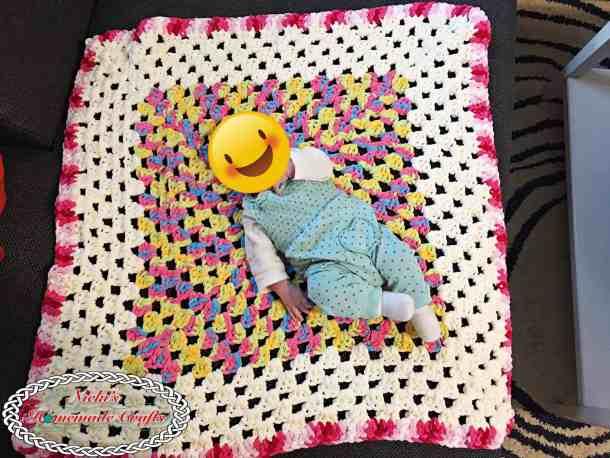 Baby Granny Square Blanket - Free Crochet Pattern - Nicki -5966