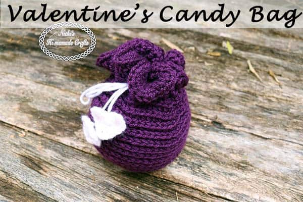 Valentine's Candy Bag – Free Crochet Pattern