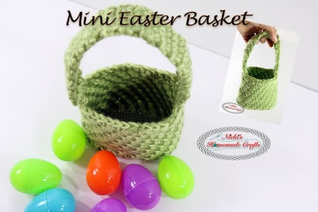 Mini Easter Basket – Free Crochet Pattern
