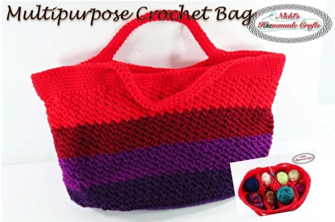 Multipurpose Crochet Bag – Free Crochet Pattern