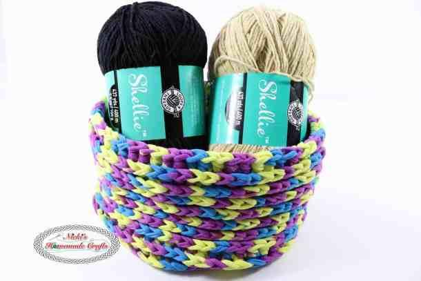 One Skein T-Shirt Yarn Basket used for Yarn Storage