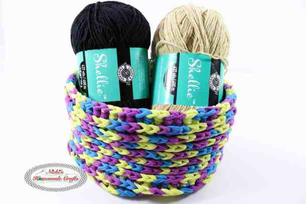 One Skein T-Shirt Yarn Basket used for Yarn Storage