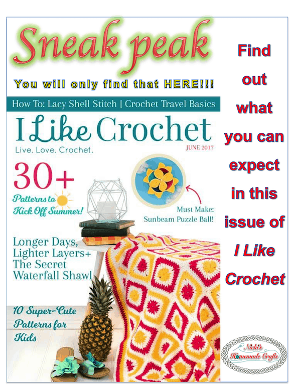 I Like Crochet Magazine Review and Sneak peak - by Nicki's Homemade Crafts