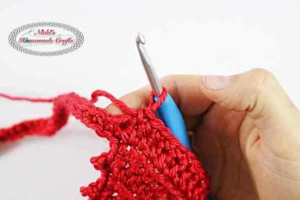Summer Picot Head Kerchief - Free Crochet Pattern