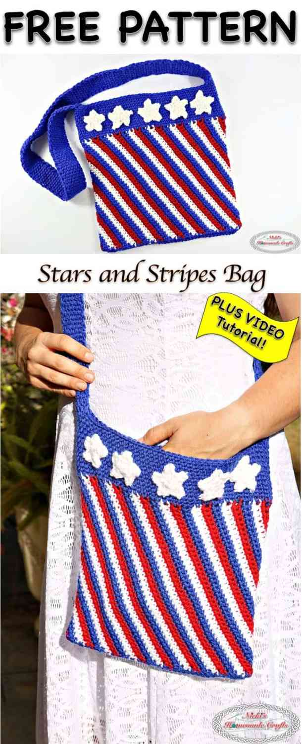 Stars and Stripes Bag - Free Crochet Pattern