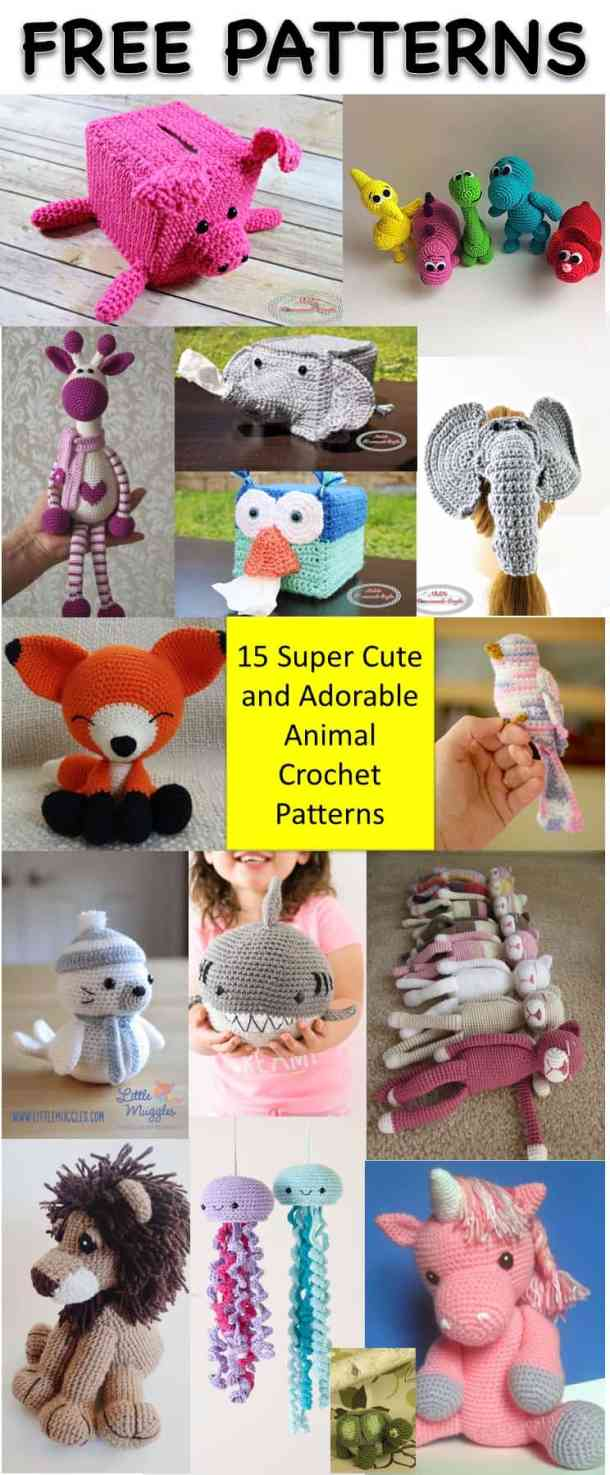 15 Most Popular And Adorable Free Animal Crochet Patterns Nickis