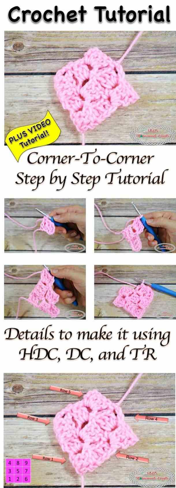 How to do the Corner-To-Corner aka C2C - Crochet Tutorial