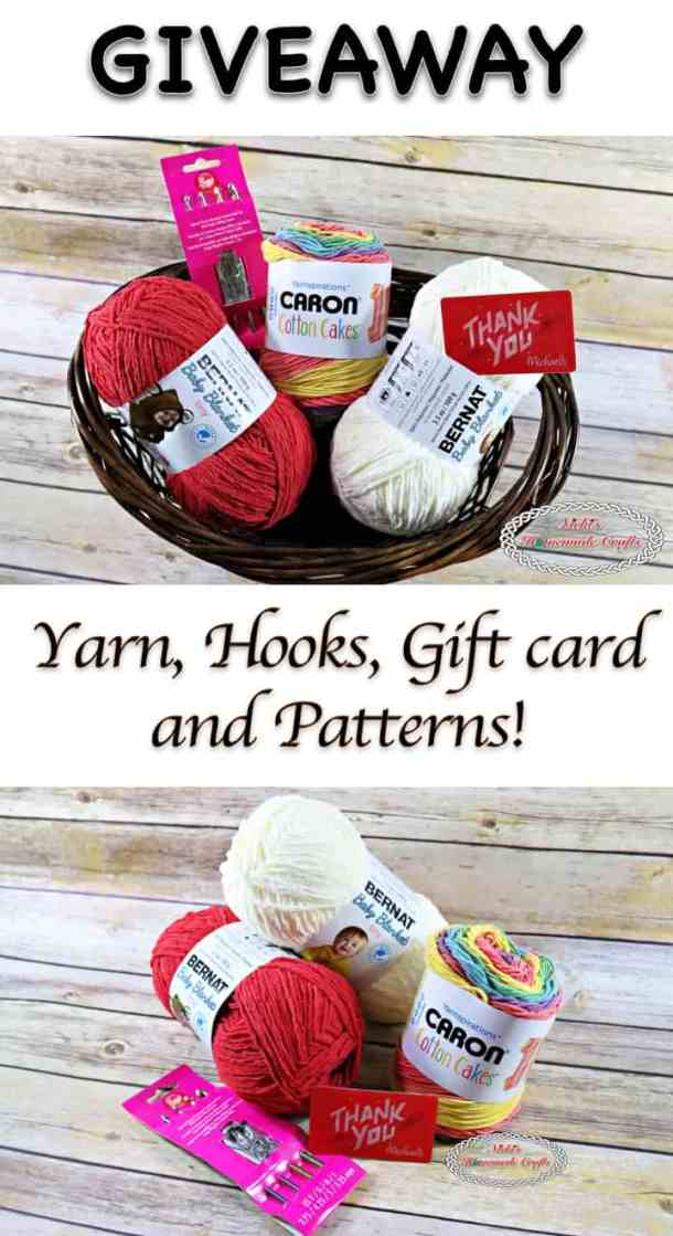 Giveaway - Win Yarn, Hooks, Gift card and Patterns - Nicki's Homemade Crafts