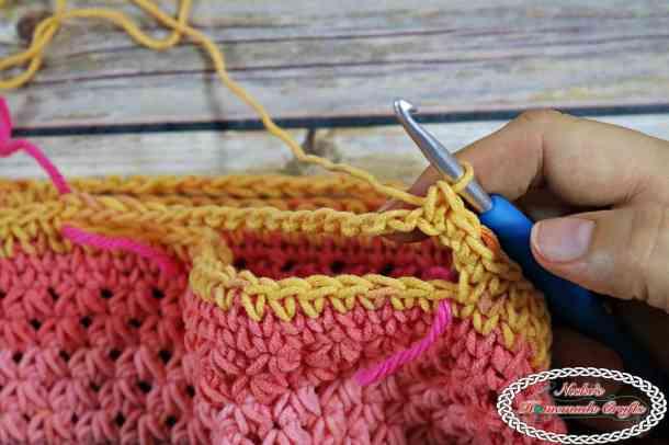 Crochet Trinity Bag with waistcoat stitch