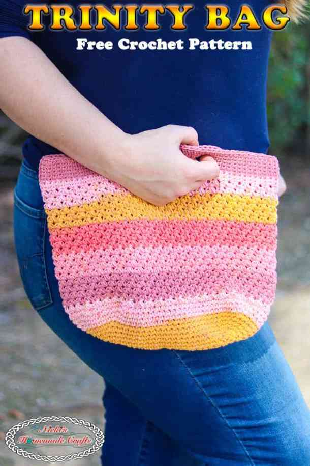 Free Crochet Project Bag - Trinity Bag