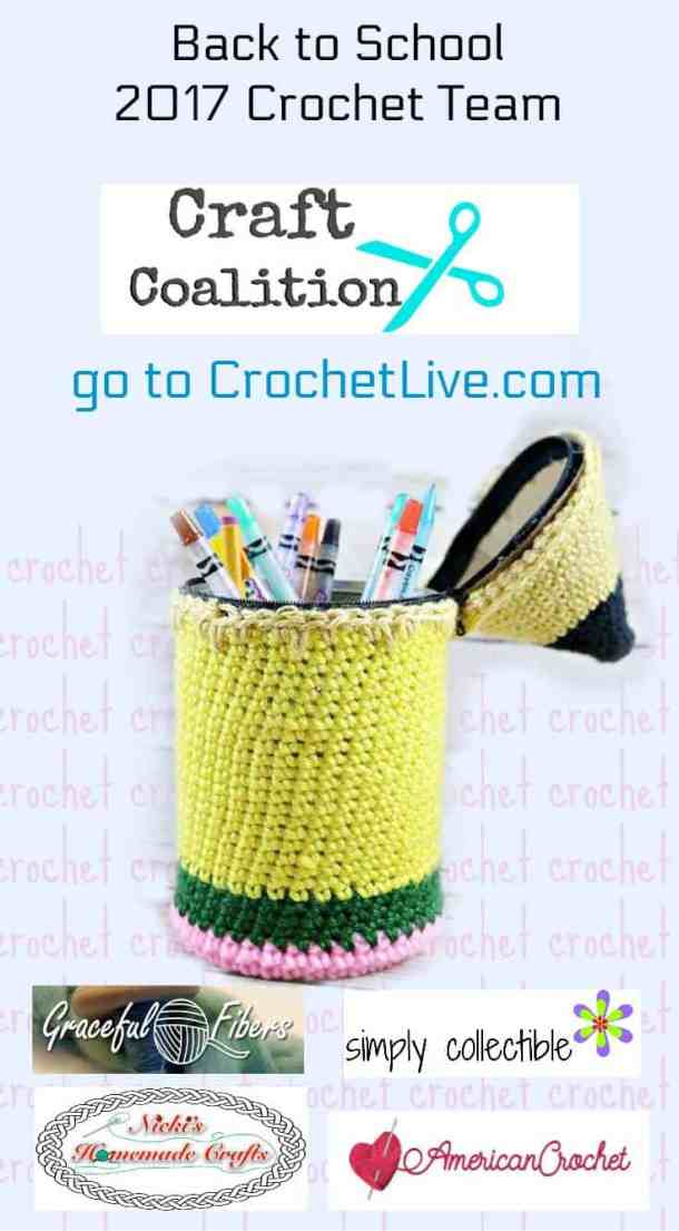 Back To School Crochet LIVE Event - Nicki's Homemade Crafts, Simply Collectible, American Crochet, Craft Coalition, Graceful Fibers