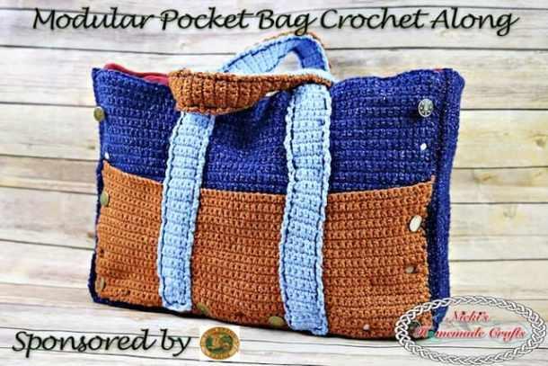 Modular Pocket Bag Crochet Along (CAL) - Free Crochet Pattern by Nicki's Homemade Crafts - sponsored by Lion Brand