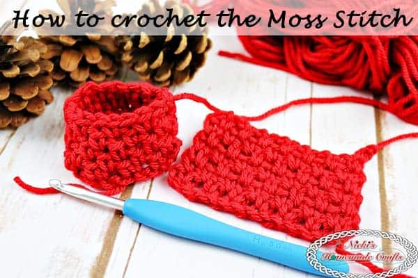 #Moss aka #Granite aka #Linen #Stitch - Crochet Tutorial - by Nicki's Homemade Crafts #crochet #tutorial