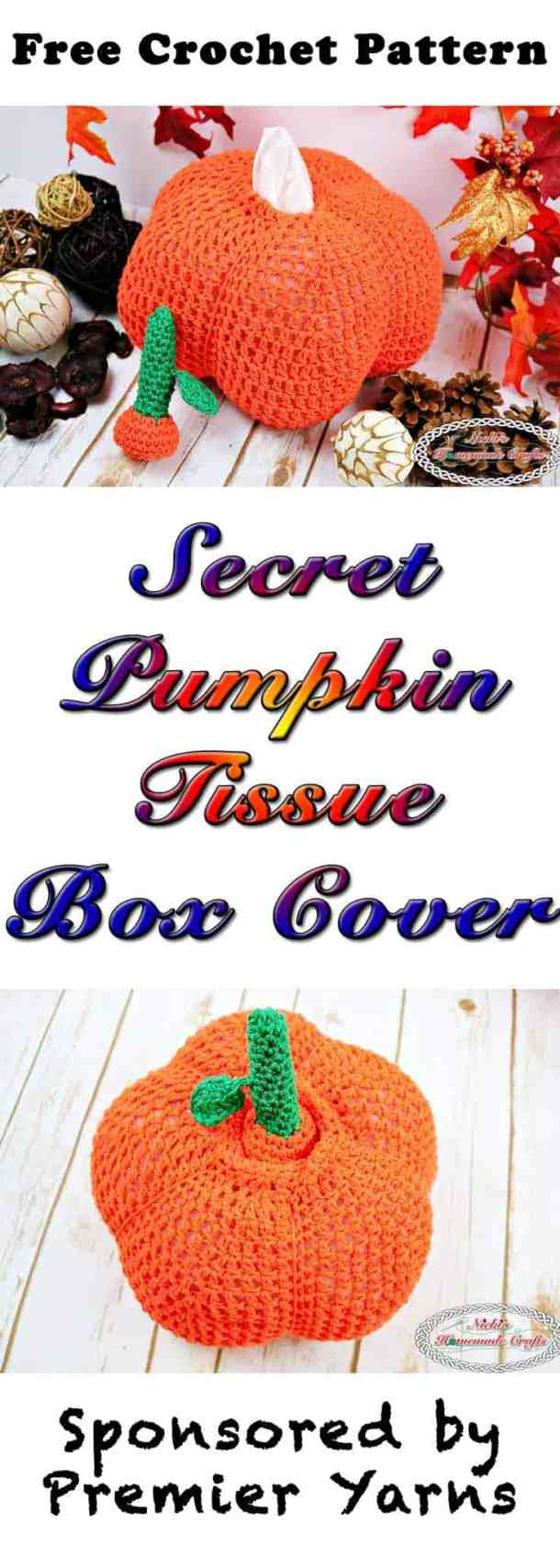 Secret Pumpkin Tissue Box Cover - Free Crochet Pattern - Nicki\'s ...