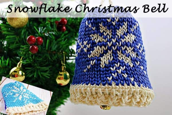 Snowflake Christmas Bell - Free Crochet Pattern by Nicki's Homemade Crafts #crochet #christmas #bell #freecrochetpattern #waistcoat #stitch