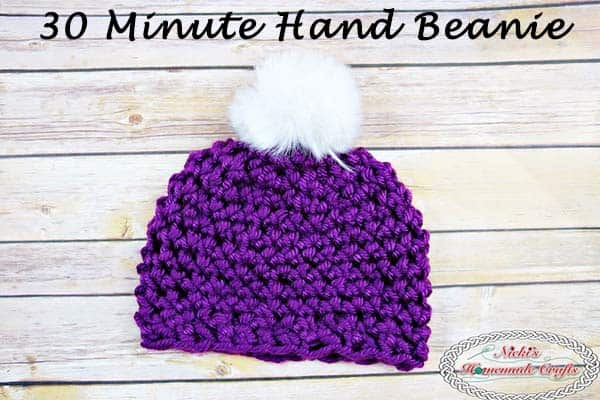 How To Quickly Finger Crochet A Beanie In 30 Minutes Free Pattern