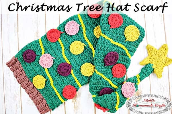 dce372abddf94 Christmas Tree Hat Scarf Free Crochet Pattern Crochet Along by Nicki s  Homemade Crafts This Crochet Along