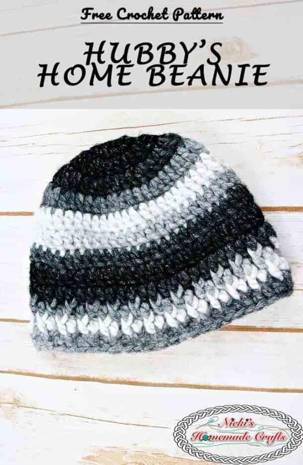 Hubby's Home Beanie Free Crochet Pattern