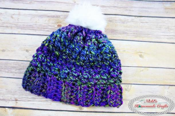 30 Minute Kaleidoscope Beanie - Free Crochet Pattern by Nicki's Homemade Crafts