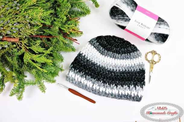 Hubby\'s Home Beanie - Free Crochet Pattern - Nicki\'s Homemade Crafts