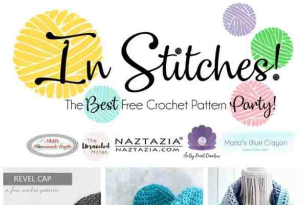 In Stitches - The Best Free Crochet Link Party - Top 5 of Week 2 featuring hats, scarf, easter chicken and winter mittens.