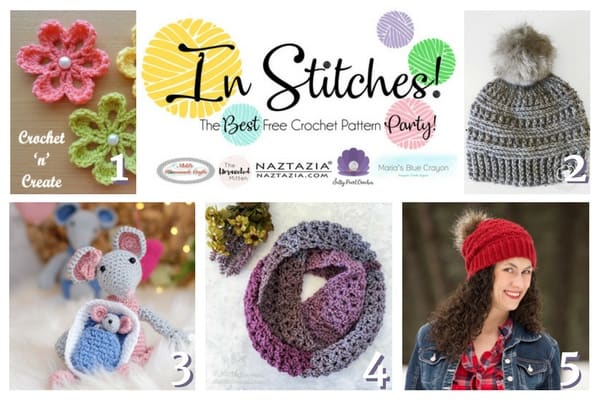 In Stitches - The Best Free Crochet Link Party - Top 5 of Week 1