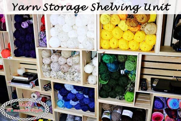 How to create a DIY Yarn Storage Shelving Unit – Best and Cheap Solution