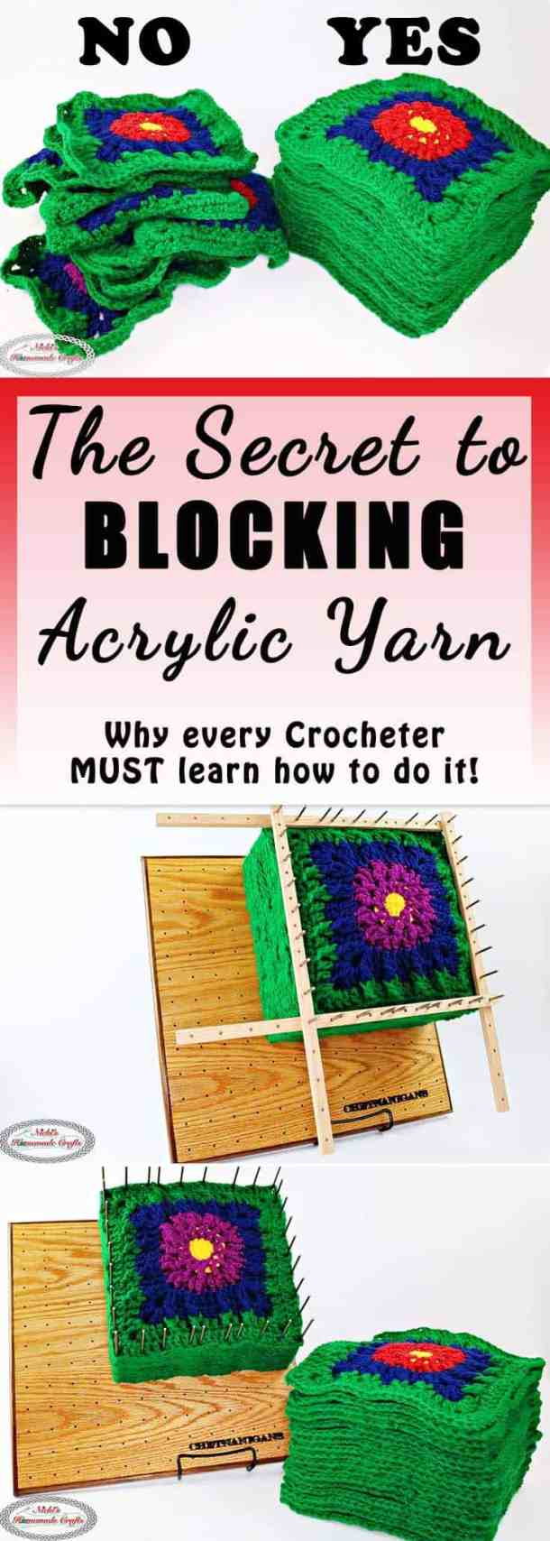 Learn the SECRET to Blocking Acrylic Yarn with Steam and Block Board - DIY Crochet and Knitting Tutorial by Nicki's Homemade Crafts - blankets, granny square, block, yarn, blocking, blocking board, review, chetnanigans, handmade, easy, steamer, avoid, make, successful, right, wrong