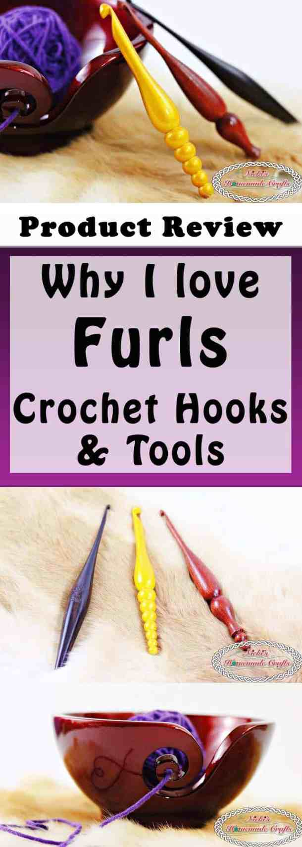 Product Review for Furls Crochet Hooks and Tools by Nicki's Homemade Crafts Showing of the Streamline, Alpha Series and the Candy Shop Hook as well as the Odyssey Yarn bowl
