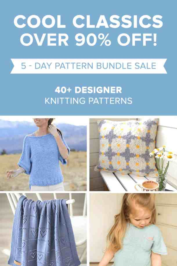 Over 40 Knitting Patterns in a bundle for 90% off