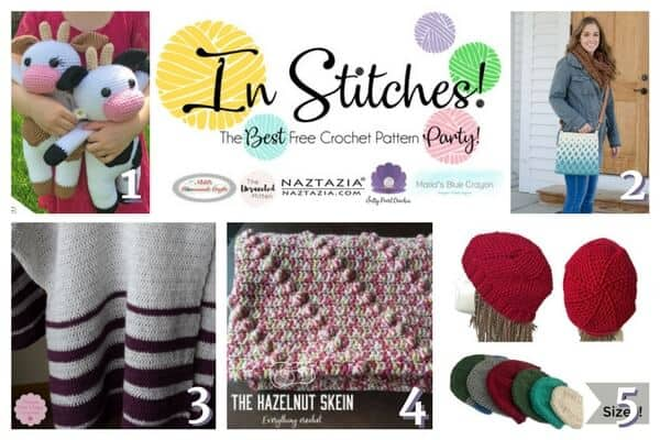Five Free Crochet Pattern Bundle for blankets, hats, bags, animals and more