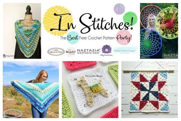 In Stitches - Best Free Crochet Pattern Party 8 - scarf, shawl, lama, alpaca, wall hanging, dream catcher
