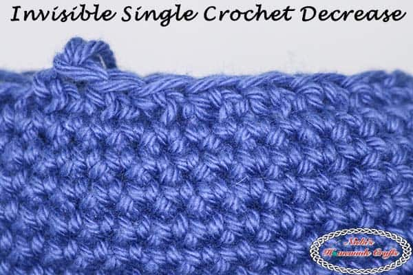 How crochet the Invisible Single Crochet Decrease – Photo and Video Tutorial