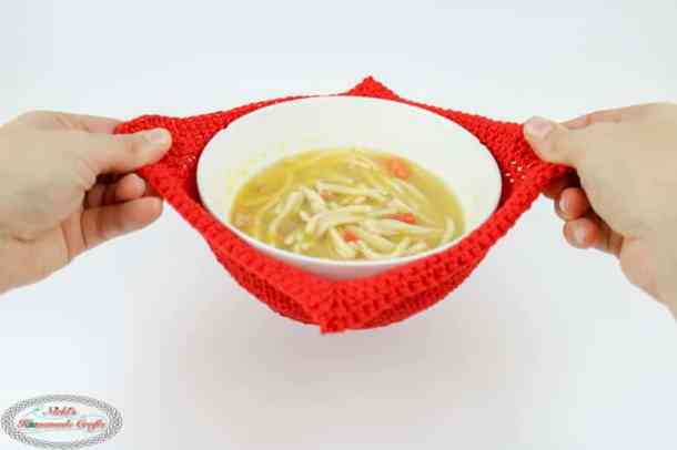 Crochet Pattern for a Microwavable Cotton Cotton Soup Bowl Cozy