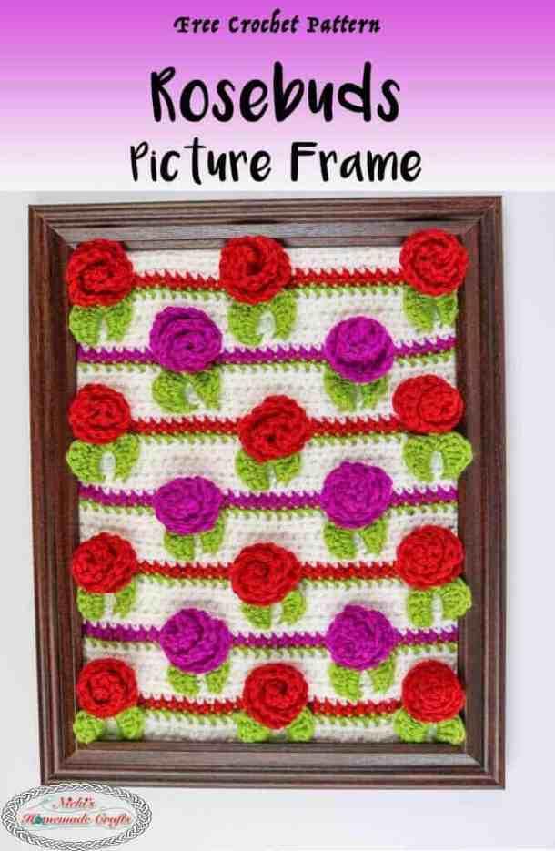 Gift Rosebud Picture Frame Crochet Pattern