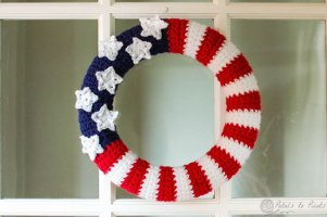 American Wreath for 4th of July - American Flag