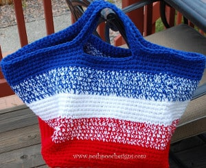American Striped Bag for 4th of July - American Flag