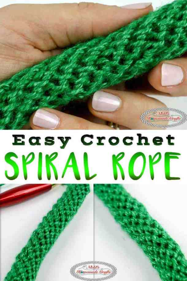 Easy Crochet Spiral Rope