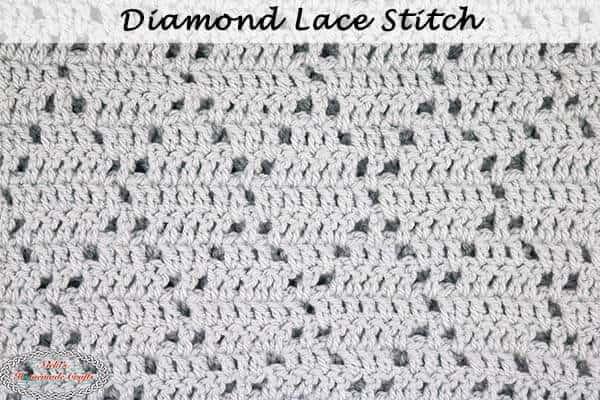 Diamond Lace Crochet Stitch Tutorial