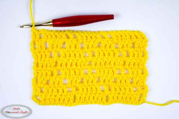 Diamond Lace Crochet Stitch Photo and Video Tutorial