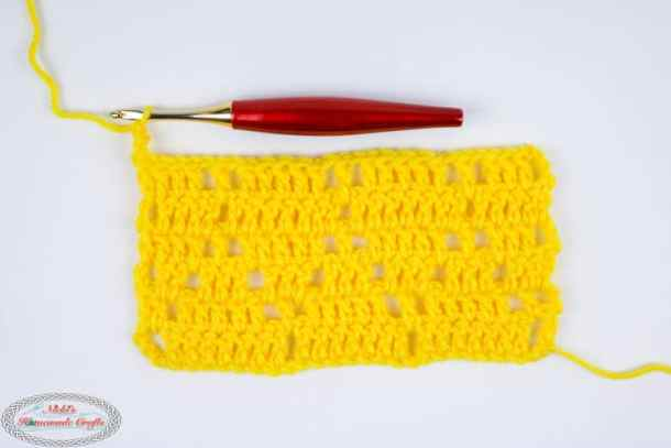 Diamond Lace Crochet Stitch Photo and Video Tutorial