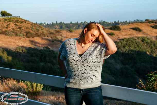 Crochet the Diamond V Neck Pattern