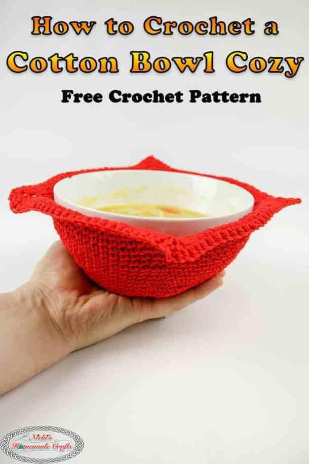 Microwave Cotton Bowl Cozy - an easy Free Crochet Pattern