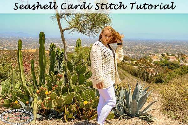 Seashell Cardi Crochet Stitch Tutorial on Facebook LIVE